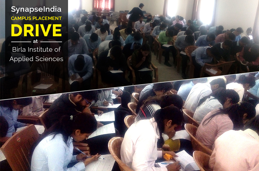 SynapseIndia Campus Placement Drive at BIAS