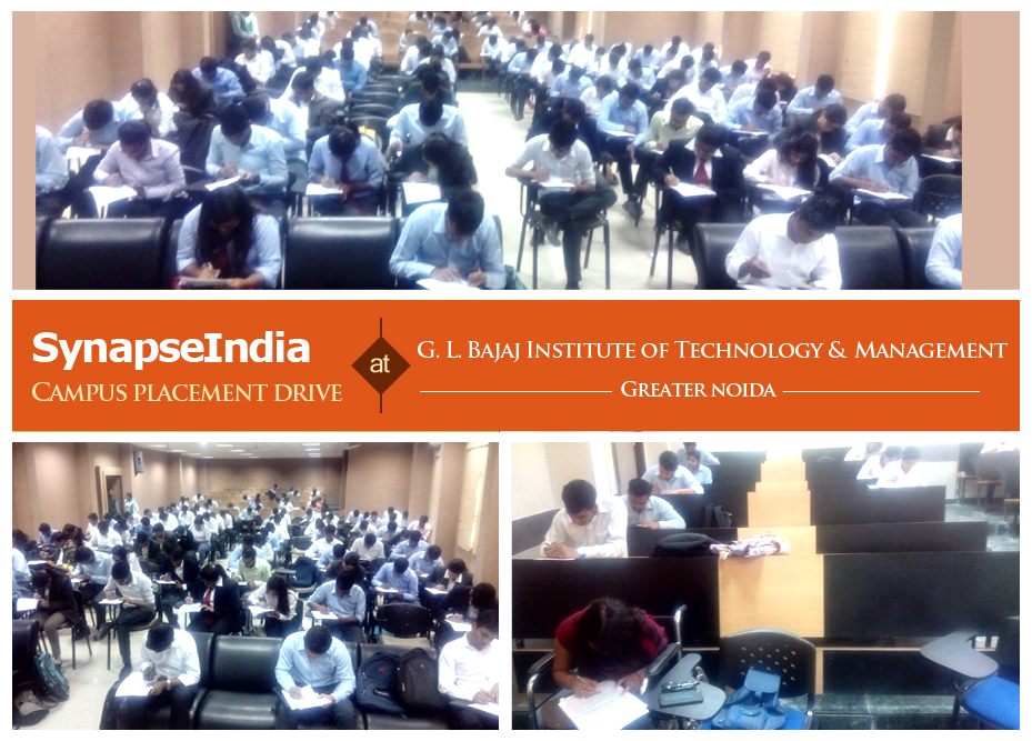 SynapseIndia Campus Placement Drive at GLBITM