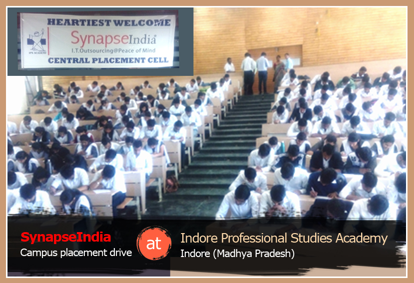 SynapseIndia Campus Placement Drive at IPS Academy